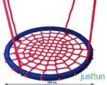 Just Fun huśtawka BOCIANIE GNIAZDO LUX 100 cm - niebiesko-czerwony 2PR05-06B2.37