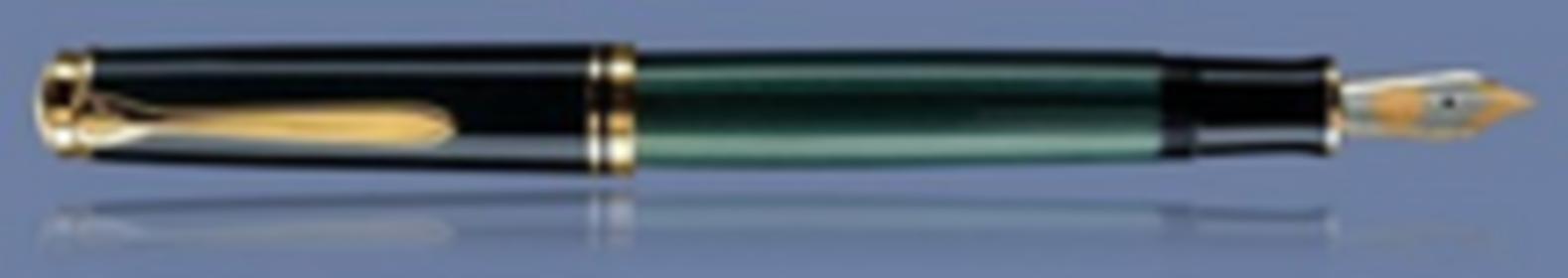 Pelikan Souveran M800 czarno-zielone, stalówka M
