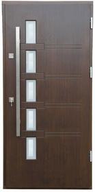Drzwi zewnętrzne drewniane Gary 90 prawe orzech