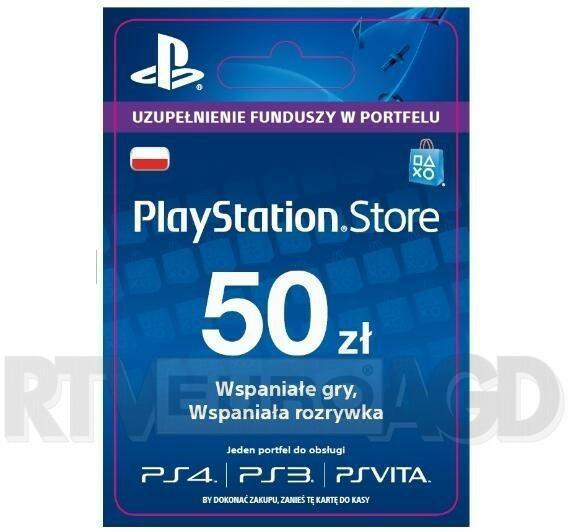 Sony Playstation Network 50 Zł Kod Aktywacyjny Dostęp Po Opłaceniu Zakupu