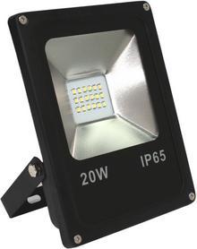 CANLED NF-20W-SMD-Z Reflektor slim z matrycą LED obudowa czarna, 20W zimny 230VD