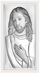 Beltrami Obrazek Jezus Chrystus w białej oprawie - (BC#6431W)