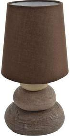 Nave Porcelanowa Lampa stołowa STONY 3045214 abażurowa LAMPKA nocna Brązowy krem