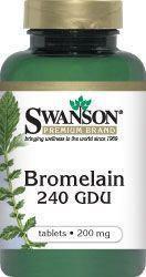SWANSON Bromelina 200mg 100 szt.