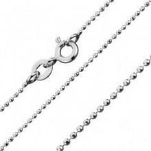 Biżuteria e-shop Srebrny łańcuszek 925 w stylu wojskowym, 1 mm