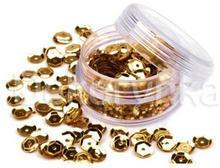 cek11 Cekiny łamane kółka O6mm w słoiczku 5g złote