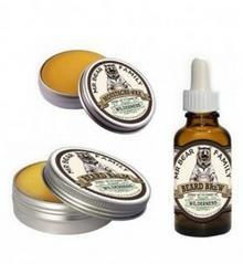 Mr Bear Family Wilderness zestaw do brody i wąsów: wosk balsam i olejek