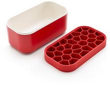 Lekue Foremki do kostek lodu z pudełkiem Ice Box czerwone 0250400R05C002
