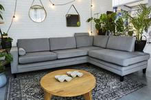 9design Sofa narożna rozkładana Focus szara Focus