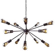 Nowodvorski Żyrandol LAMPA wisząca ROD 9733 industrialna OPRAWA metalowa ZWIS loft na łańcuchu gwiazda czarna