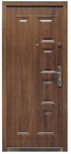 Splendoor Drzwi zewnętrzne stalowe  Gaja 90 lewe orzech szlachetny