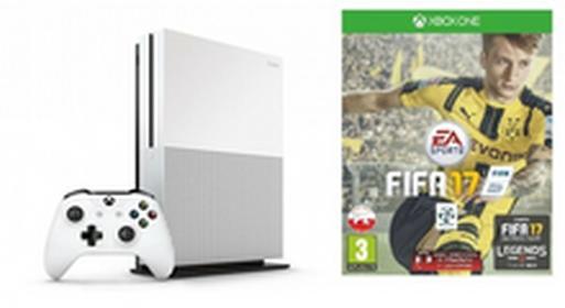 MicrosoftXbox One S Biały 500GB + FIFA 17 + 6M XBL