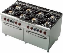 RM Gastro Kuchnia gazowa z dwoma piekarnikami gazowymi GN 2/1 CF8 - 916 G