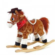 Sapphire Koń na biegunach TEDDY brązowy