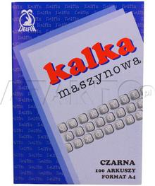Delfin KAKADO/ Kalka maszynowa A4 czarna (100) KD1002