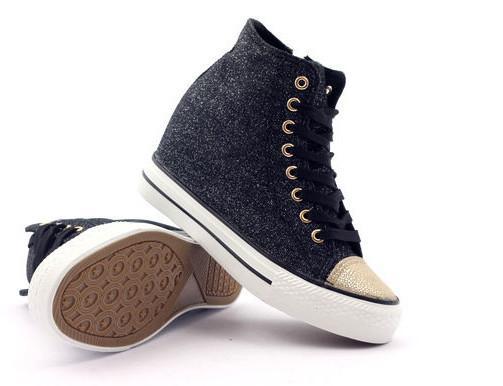 McArthur Botki trampki sneakersy czarne brokat rozmiar 39