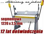 Opinie o Zaginarka GIĘTARKA SEGMENTOWA DO BLACHY MAKTEK 1220mm x 2.5mm EWIMAX
