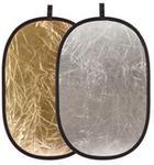 FV Blenda 2w1 - 92x122 cm Owalna (srebrno-złota) Blenda2w1_92x122sz