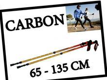 Kijki Trekingowe Do Nordic Walking Carbon 20007_Orange