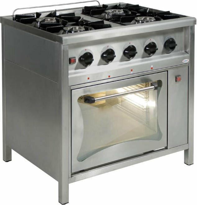 Egaz Kuchnia Gazowa 4 Palnikowa Z Piekarnikiem Elektrycznym Tg4720