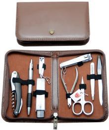 Three Swords Solingen Zestaw do manicure 6326 PN Cut brown