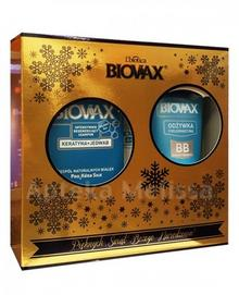 Lbiotica BIOVAX keratyna + JEDWAB Intensywnie regenerujący szampon - 200ml ml + BB