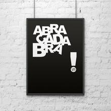 DekoSign Plakat dekoracyjny 50x70 cm w ramie ABRACADABRA czarny by DecoSign DS-P