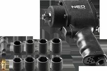 NEO Klucz udarowy pneumatyczny, 1/2, 675Nm, zestaw z nasadkami 12-022