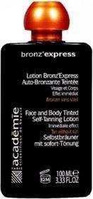 Academie BronzExpress tinted self tanning lotion - Samoopalacz płyn na twarz i ciało 100ml