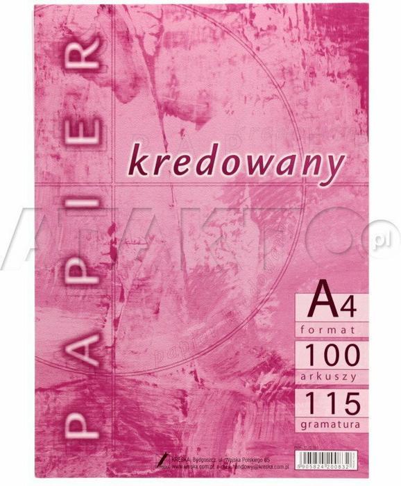 Papier Kredowy A4 115g 100 Kreska Vk0812 Ceny I Opinie Na Skapiecpl