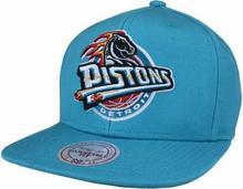 Mitchell & Ness DETROIT PISTONS WOOL SOLID NBA SNAPBACK TEAL (PISTONS)