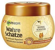 Garnier prawdziwe Schätze do włosów, maska do włosów kur połysk zapewnia intensywne pielęgnacja włosów, zachowuje kolory (z bruechiges, strapziertes mleczko pszczele, balsam & miód do włosów) 1 X 300 C52597