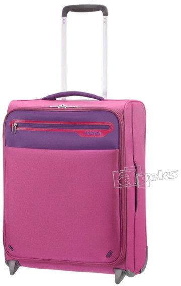 d49daa7f3bd76 American Tourister Lightway mała walizka podróżna kabinowa - Pink /  fioletowy 00G*80*002