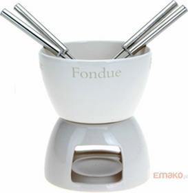 Excellent HousewareEH CZEKOLADOWE FONDUE - ceramiczny ZESTAW dla 4 osób K/12, 3