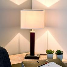 Searchlight Kanciasta lampa stołowa WAVERLEY, wysokość 45 cm