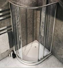 Rea Impuls Slim 80x100 prawa szkło transparentne + brodzik