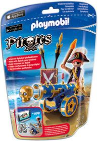 Playmobil Pirates - Kapitan piratów z zieloną armatą 6164