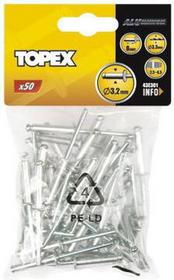 Topex Nity aluminiowe 4,8 x 28mm, 50 sztuk, , 43E509
