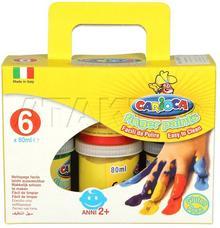 Carioca Farby do malowania palcami 6kol 100g KA7599