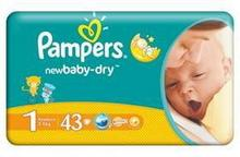 Pampers New Baby-Dry 1 Newborn 43 szt.
