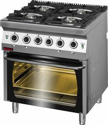 Kromet Kuchnia gazowa 4-palnikowa z piekarnikiem elektrycznym 700.KG-4/PE2