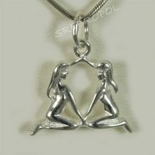 Srebrny znak zodiaku BLIŹNIĘTA (Bliźnięta SH 1.5g)