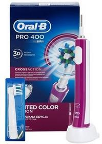 Oral B Pro 400 D16.513 CrossAction elektryczna szczoteczka do zębów Limited Color Edition Purple 3D Action
