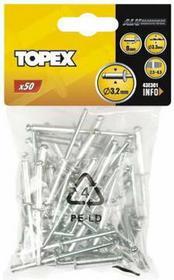 Topex Nity aluminiowe 4 x 12,5mm, 50 sztuk, , 43E403