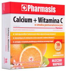 Calcium PHARMASIS PHARMASIS WITAMINA C 16 tabl. mus. smak pomarańczowy 3053771