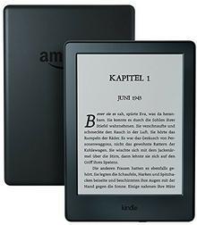 Amazon Czytnik Kindle z ekranem dotykowym o przekątnej 15,2 cm (6 cali), bez odblasków, Wi-Fi i ofertą specjalną, kolor czarny 53-004611