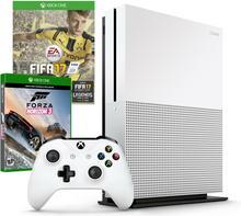 Microsoft Xbox One S 1 TB Biały + Fifa 17 + Forza Horizon 3 + 6M XBL + Kontroler XboxOne S Czarny + Akcesoria