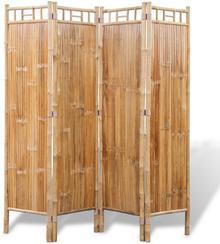vidaXL 4-Panelowy parawan bambusowy