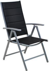 Krzesło ogrodowe aluminiowe Ibiza Silver / Black