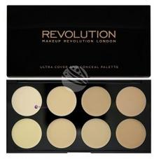 Makeup Revolution Ultra Cover & Conceal Palette paleta 8 kremowych korektorów Light 10g